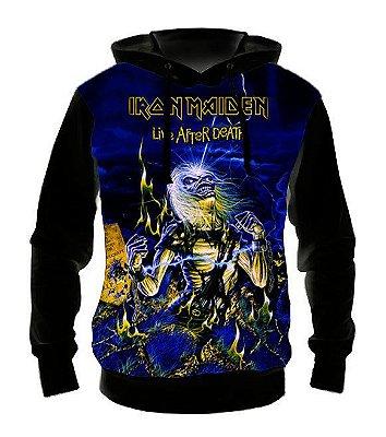 IRON MAIDEN - Live After Death - Casaco de Moletom Rock Metal
