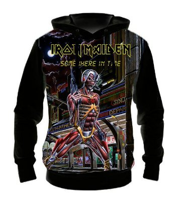 IRON MAIDEN - Somewere in Time - Casaco de Moletom Rock Metal