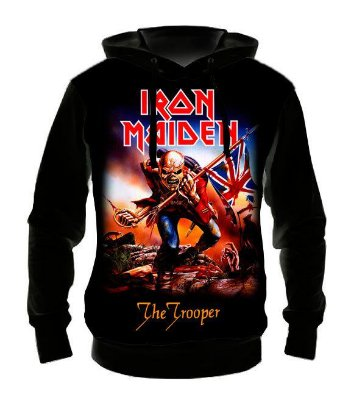 IRON MAIDEN - The Trooper - Casaco de Moletom Rock Metal