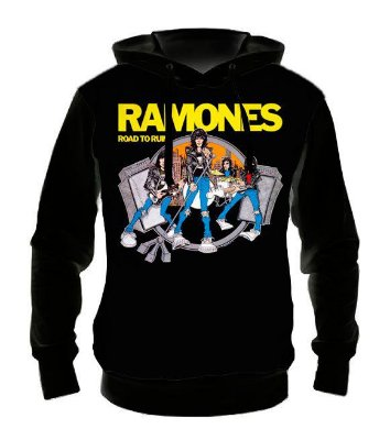 RAMONES - Road to Ruins - Casaco de Moletom Rock Metal