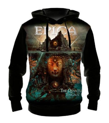 EPICA - Quantum Enigma - Casaco de Moletom Rock Metal