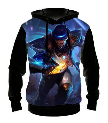 LEAGUE OF LEGENDS - Twisted Fate Pulsefire - Casaco de Moletom Games