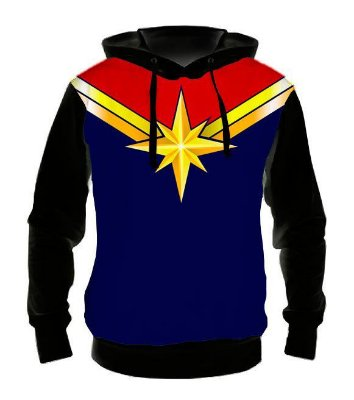 MARVEL - Capitã Marvel Uniforme - Casaco de Moletom Cinema