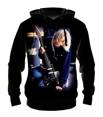 NIRVANA - Kurt Cobain - Casaco de Moletom Rock Metal