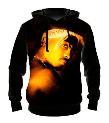 TUPAC - Ressurection - Casaco de Moletom Rock Metal