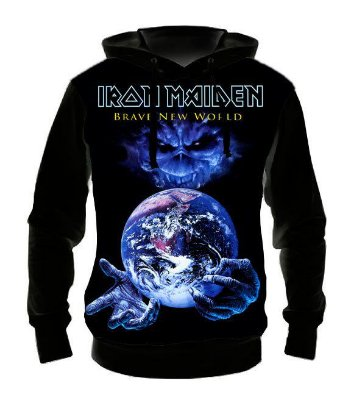 IRON MAIDEN - Brave New World - Casaco de Moletom Rock Metal