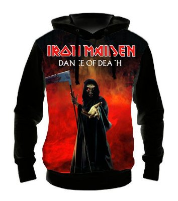 IRON MAIDEN - Dance of Death - Casaco de Moletom Rock Metal