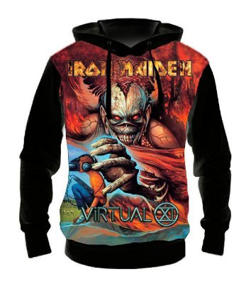 IRON MAIDEN - Virtual XI - Casaco de Moletom Rock Metal