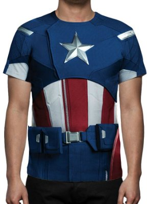 UNIFORMES - Capitão América Modelo 1 - Camisetas Variadas