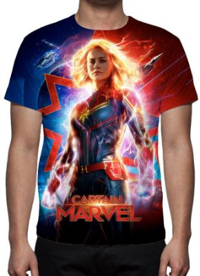 MARVEL - Capitã Marvel Modelo 1 - Camiseta de Cinema