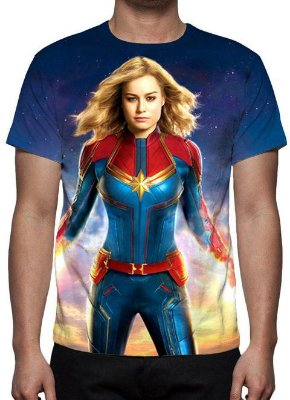 MARVEL - Capitã Marvel Modelo 2 - Camiseta de Cinema
