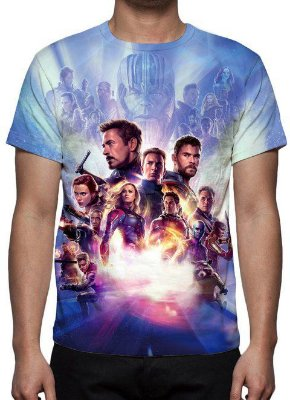 MARVEL - Vingadores Ultimato Modelo 2 - Camiseta de Cinema