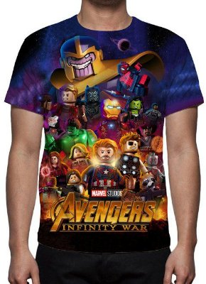 LEGO - Vingadores Guerra Infinita Mod 2 - Camisetas Variados