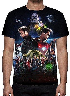 MARVEL - Vingadores - Guerra Infinita - Modelo 5 - Camiseta de Cinema
