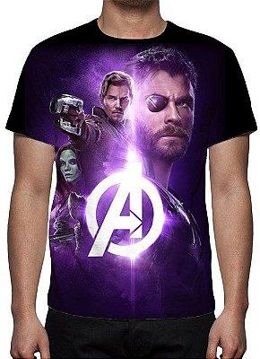 MARVEL - Vingadores Guerra Infinita - Joias Modelo 2 - Camiseta de Cinema