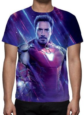 MARVEL - Vingadores Ultimato - Roxa Homem de Ferro- Camiseta de Cinema