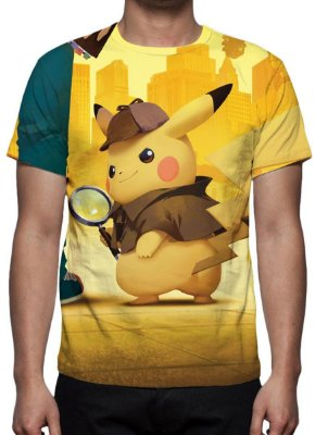POKEMON - Detetive Pikachu - Modelo 1 - Camiseta de Cinema