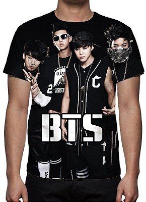 KPOP - BTS - Grupo Modelo 1 - Camiseta de Música