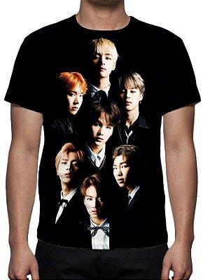 KPOP - BTS - Grupo Modelo 2 - Camiseta de Música