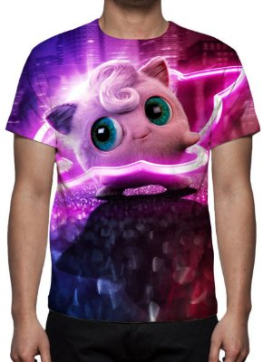 POKEMON - Detetive Pikachu Jigglypuff - Camiseta de Cinema