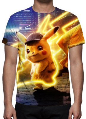 POKEMON - Detetive Pikachu - Modelo 2 - Camiseta de Cinema