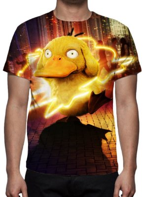 POKEMON - Detetive Pikachu - Psyduck - Camiseta de Cinema