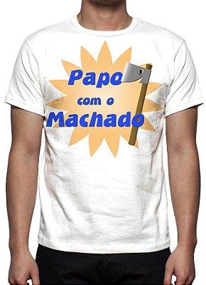 PAPO COM O MACHADO - Modelo 1 - Camiseta de parceiros