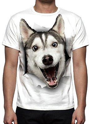 ANIMAIS - Cão Husky - Camisetas Variadas