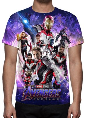 MARVEL - Vingadores Ultimato Modelo 9 - Camiseta de Cinema