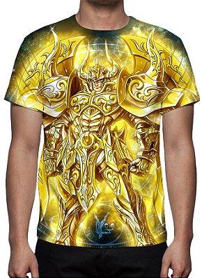 CAVALEIROS DO ZODÍACO - Armadura Divina Aldebaran de Touro - Camiseta de Animes