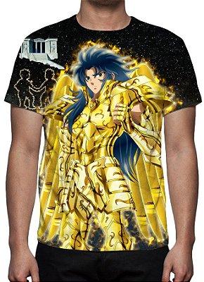 CAVALEIROS DO ZODÍACO - Armadura Divina Saga de Gêmeos - Camiseta de Animes