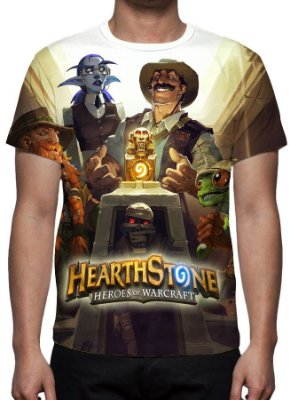 HEARTHSTONE - Liga dos Exploradores - Camisetas de Games