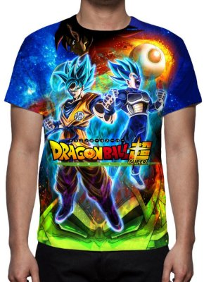 DRAGON BALL SUPER - Brolly Filme Modelo 1 - Camiseta de Animes