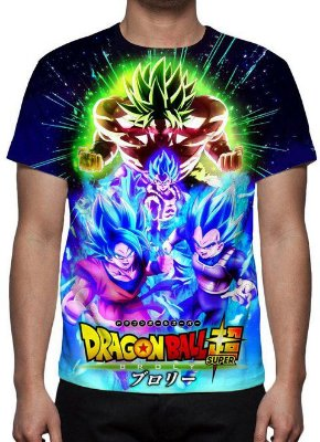 DRAGON BALL SUPER - Brolly Filme Modelo 2 - Camiseta de Animes