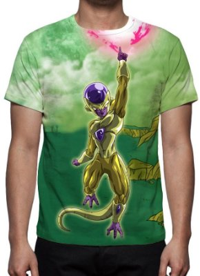 DRAGON BALL Z - Freeza Dourado Modelo 2 - Camiseta de Animes