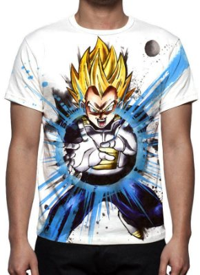 DRAGON BALL Z - Vegeta Final Flash - Camiseta de Animes