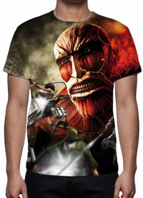 SHINGEKI NO KYOJIN - Titan Colossal - Camiseta de Animes