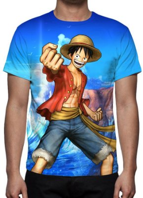 ONE PIECE - Monkey D Luffy - Camiseta de Animes
