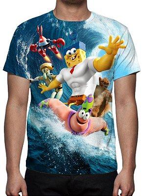 BOB ESPONJA - Um Herói Fora Dágua Modelo 2 - Camiseta de Desenhos