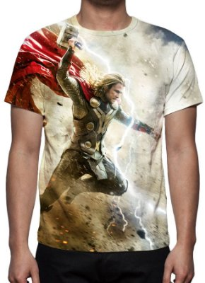 MARVEL - Thor Mundo Sombrio - Camiseta de Cinema