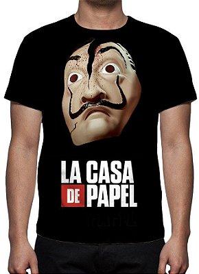 LA CASA DE PAPEL - Máscara Salvador Dali Quebrada - Camiseta de Séries
