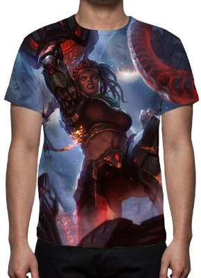 LEAGUE OF LEGENDS - Illaoi da Resistência - Camiseta de Games