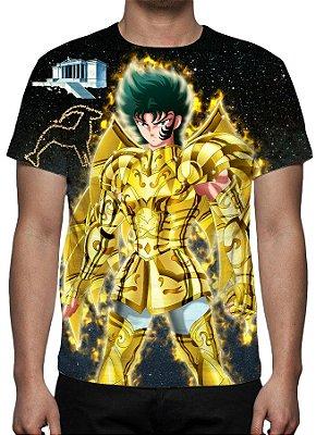 CAVALEIROS DO ZODÍACO - Armadura Divina Shura de Capricórnio - Camiseta de Animes