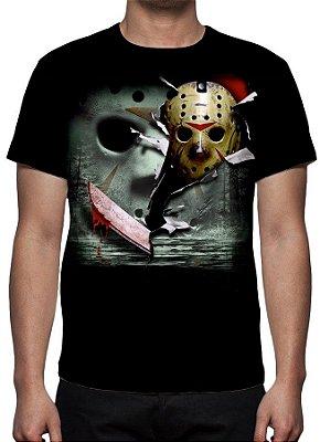 SEXTA FEIRA 13 - Jason Voorhees Modelo 1- Camiseta de Cinema
