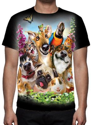 ANIMAIS - Galera Animal Pet - Camisetas Variadas