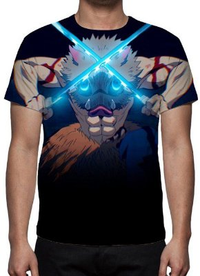 KIMETSU NO YABA -  Demon Slayer - Inosuke - Camiseta de Animes
