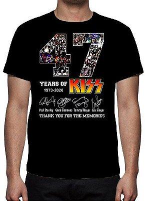 KISS - 47 ANOS - Camiseta de Rock