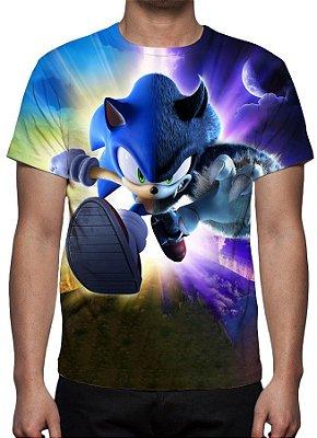 SONIC - Modelo 2 - Camiseta de Games