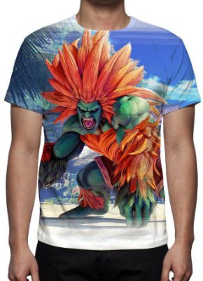 STREET FIGHTER 5 - Blanka - Camisetas de Games