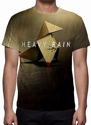 HEAVY RAIN - Origami Com Logo - Camiseta de games